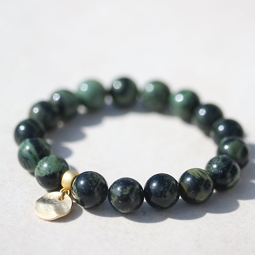 Birdseye Rhyolite gemstone bracelet