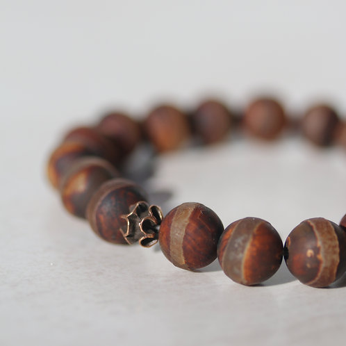 Rustic matt Agate gemstone bracelet