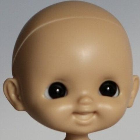[Tan]Laugh Un-painted / Blank Doll Kit Set