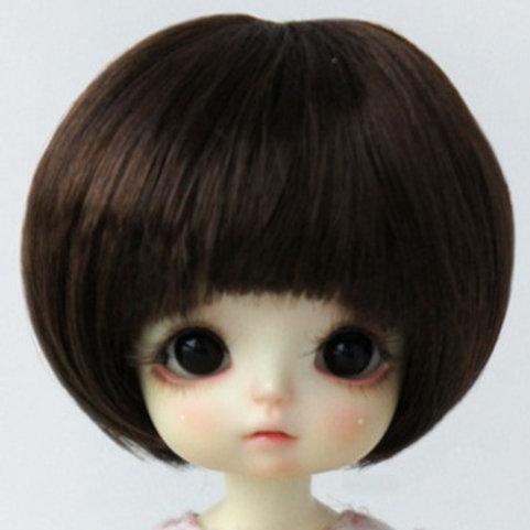 "Faux Mohair Wig JD452-SM7-Dark Coffee  Size 5-6"""