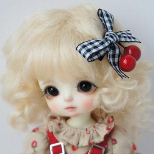 """Mohair Wig JD012-M9-Light Blond   Size 5-6"""""""
