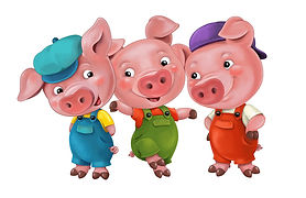 Three Pigs for Christmas isolated.jpg