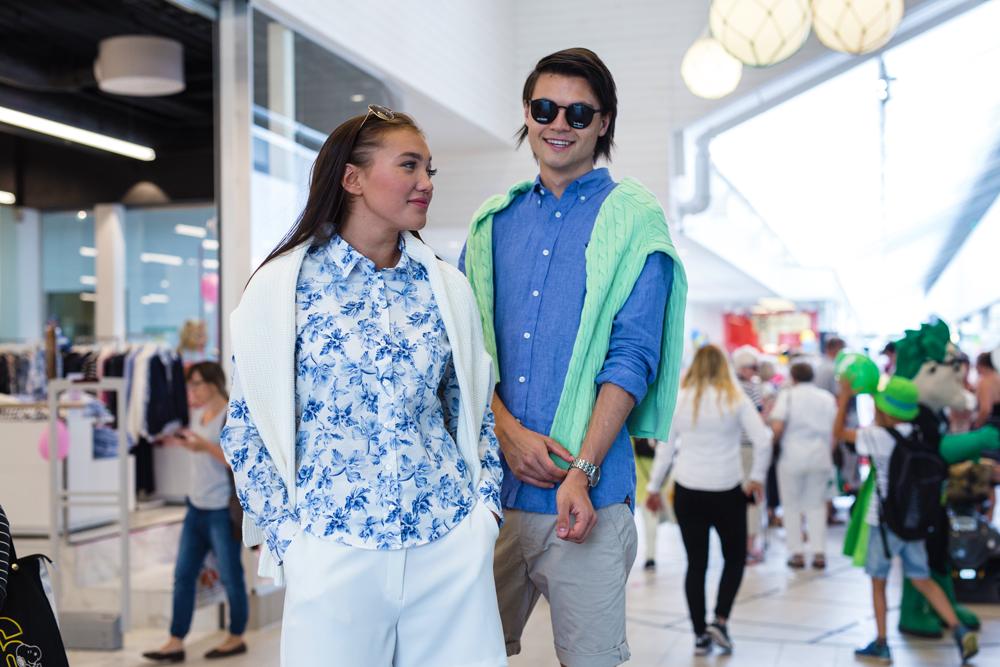 Modevisning i sibahuset Överby köpcentrum Trollhättan