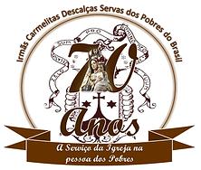 Logotipo dos 70 Anos da Congregação - Servas dos Pobres do Brasil