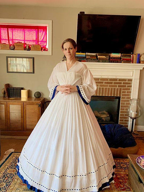 Sheer White Antebellum dress