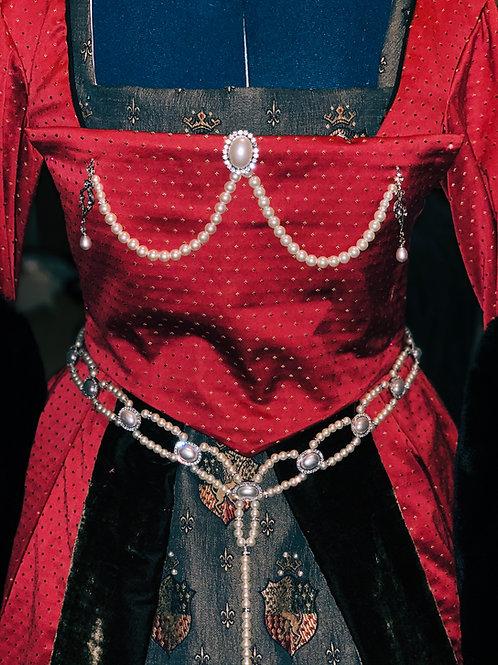 Tudor Era Girdle Belt-Pearl