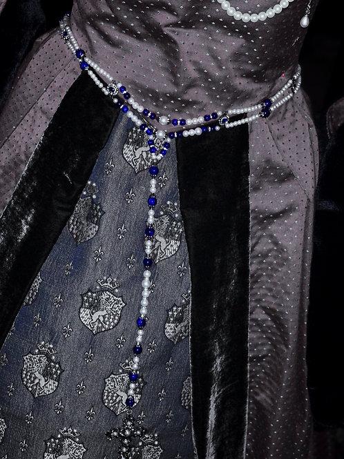 Tudor Era Girdle Belt-Blue
