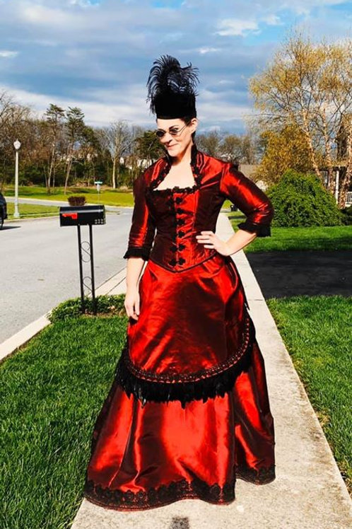 1870's Trained bustle gown