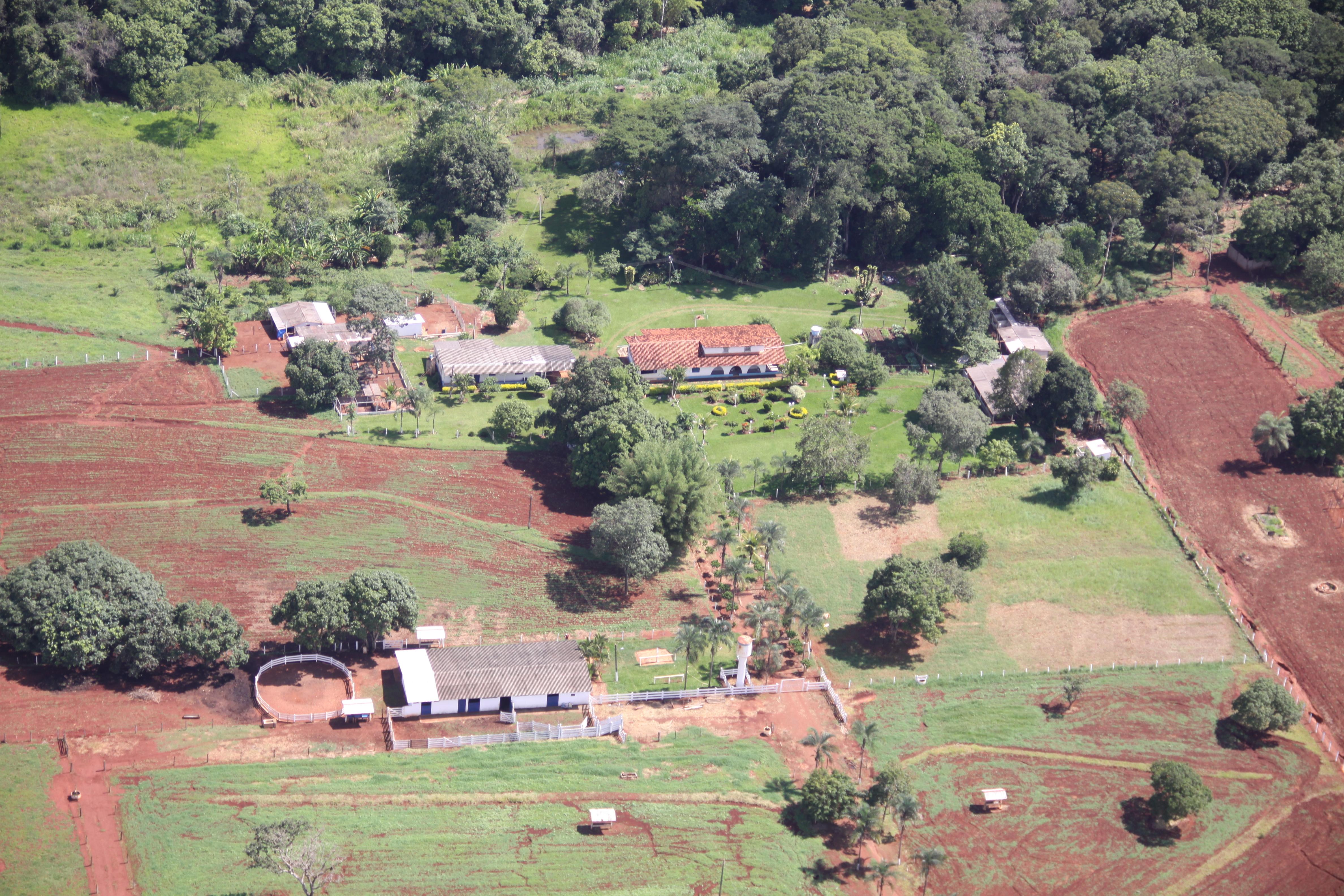 Foto aérea do Haras Estrela