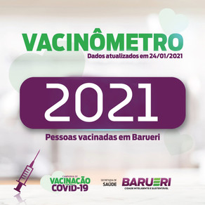 Coronavírus: vacinômetro 24 de Janeiro