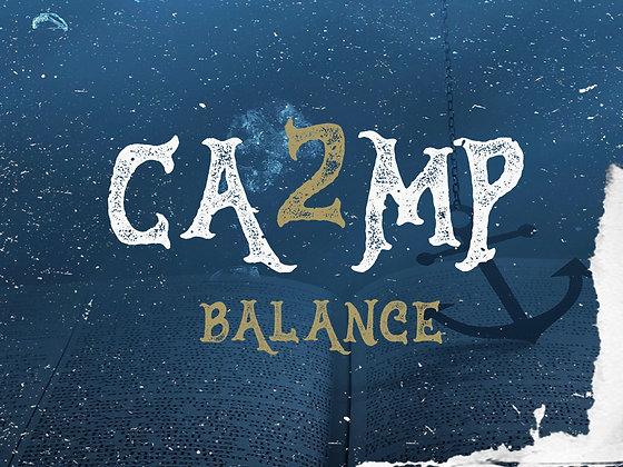 Camp 2 Camp balance , (per person)