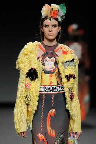 Knitcouture, yellow wool jacket