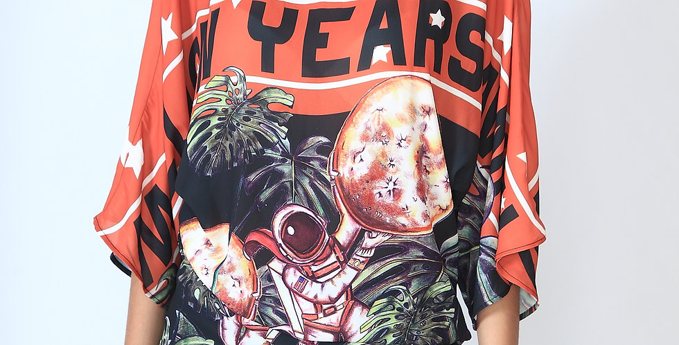 """Deliciosa Yankee Moon"" kimono shirt"