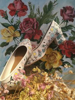 Floral shoes comission