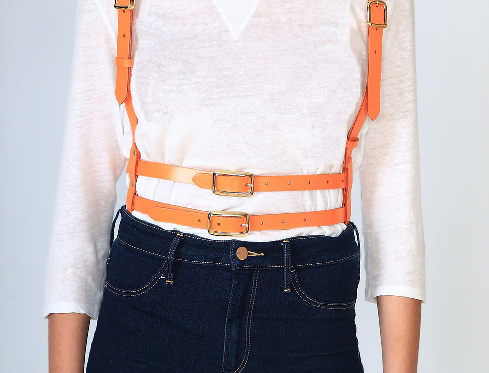 Orange Leather harness