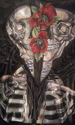 Skull & Roses closeup