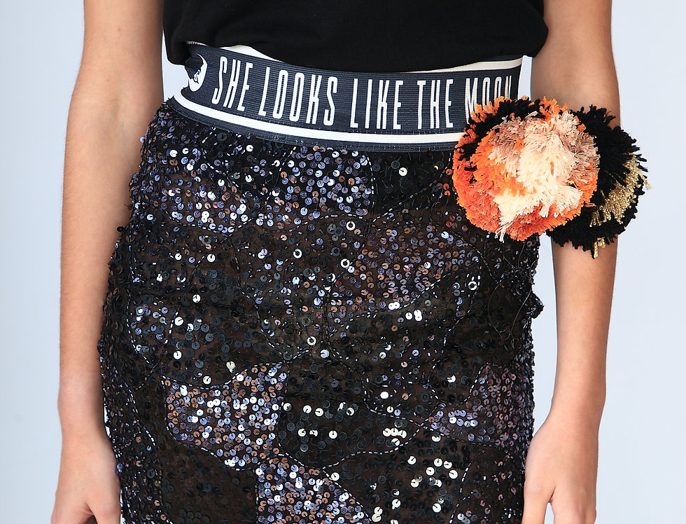 """All that shines"" sequin skirt"