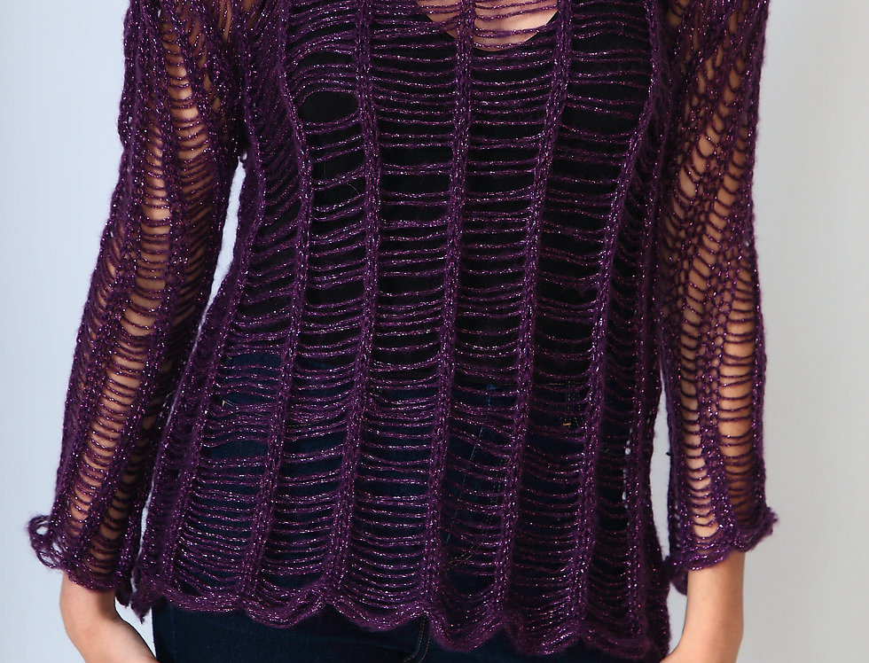 Purple hope sweater