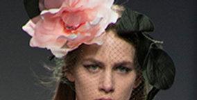Pink queen flower headpiece