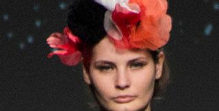 Pompom Flower Power headpiece