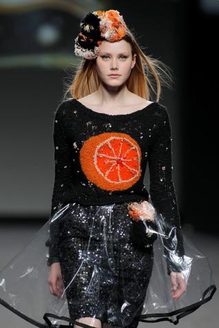 Orange moon pvc skirt