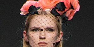 Black orange fucsia crown