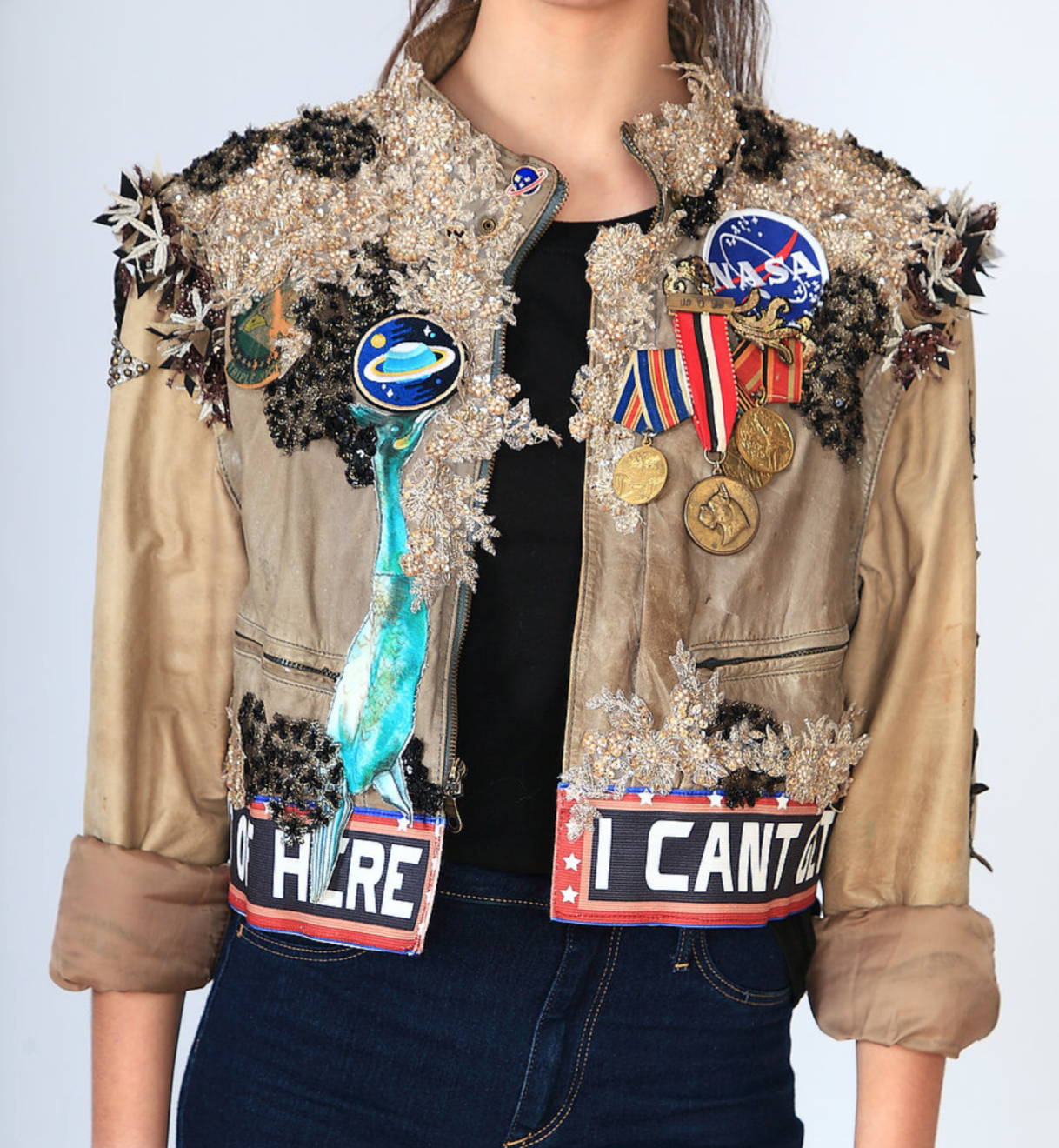 Couture sparkly space jacket