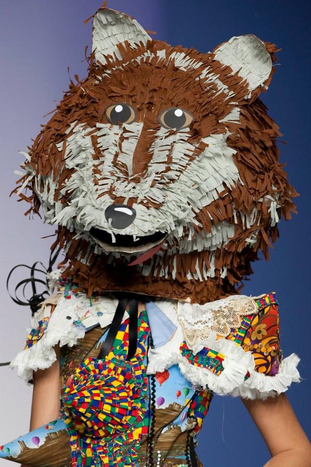 Wolf piñata head