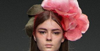 Pink Flower Bomb Headpiece