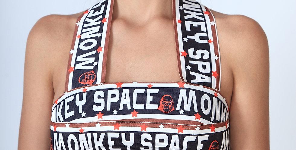 Space Monkey Bandage Top
