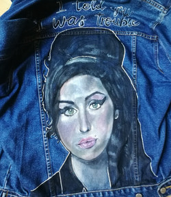 Amy Winehouse denim jacket