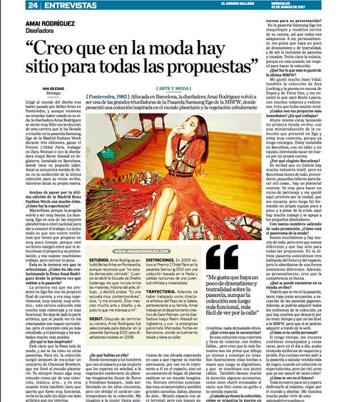 El Correo GAllego Interview