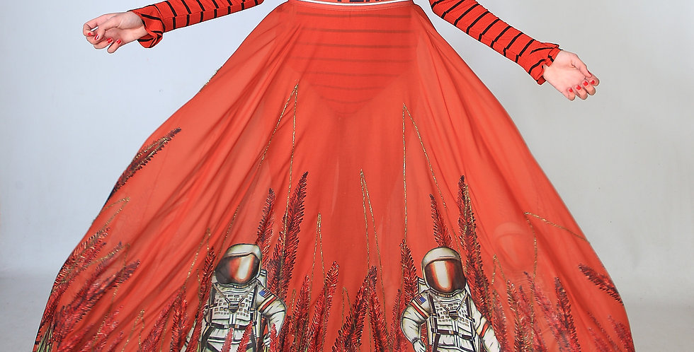 """""""You are my space hero"""" skirt"""