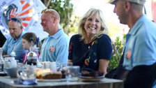 Veterans share stories of 'life-saving' surfing with US First Lady