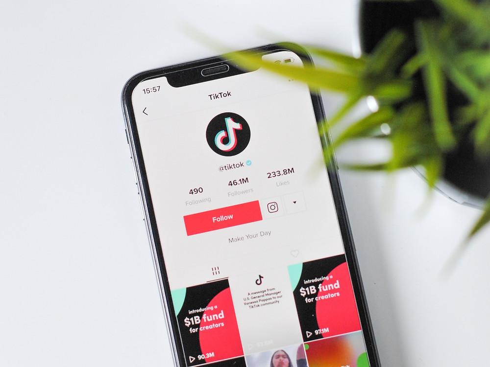 Image of TikTok app on smartphone