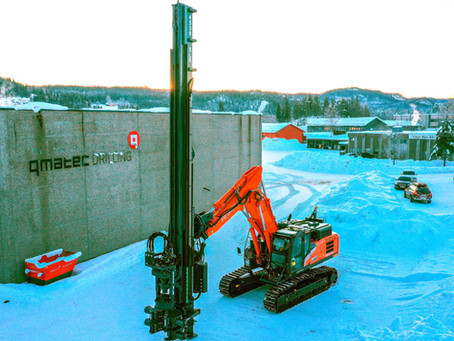 Drilling machine assembled on excavator!