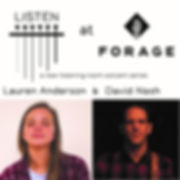 square Listen at Forage Show Poster 1.16