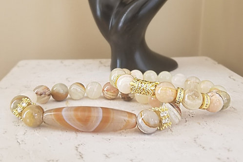 Jade with Agate Set