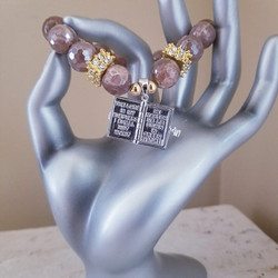 Moonstone with Bible Charm That Opens!