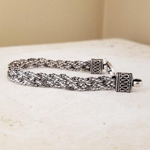 Artisan Crafted Sterling Silver Rope Bracelet