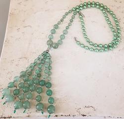 Green Aventurine Tassel