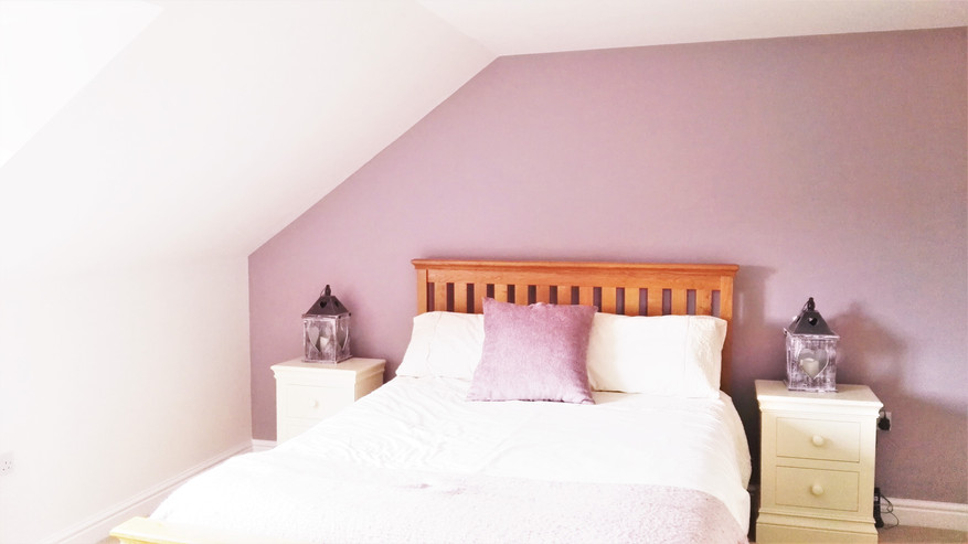 Soft coloured bedroom wall