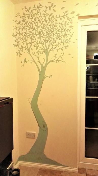 Tall tree wall mural