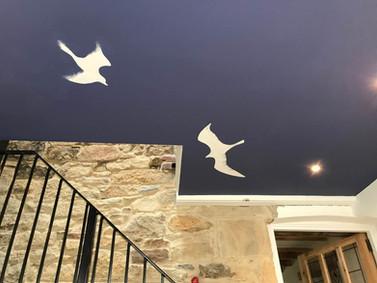 Ceiling seagull mural
