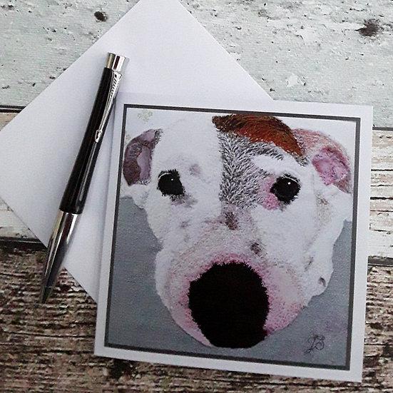 Staffordshire Bull Terrier Greetings Card