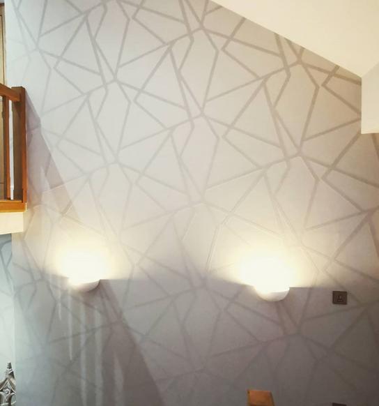 Stair & hallway wallpapering