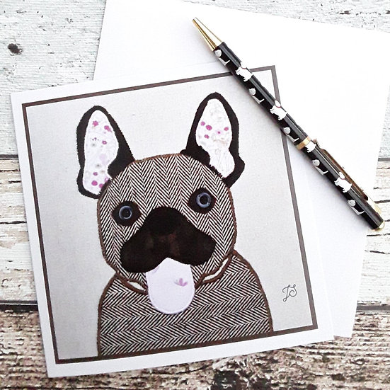 French Bulldog Greetings Card