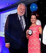 Receiving CITB award from Terry Waite