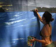 Painting in Midigama, Sri Lanka
