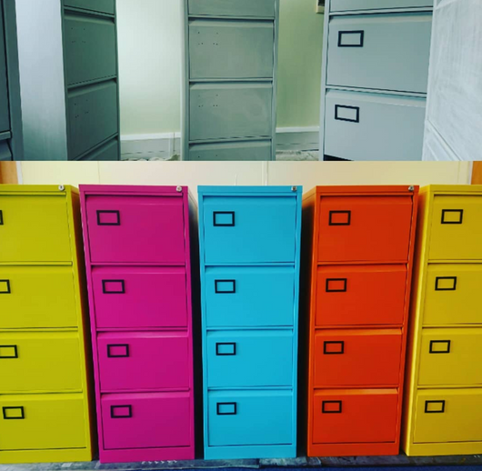 Colourful cabinets